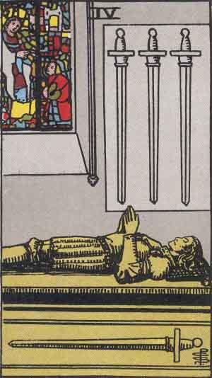 Four of Swords Tarot card