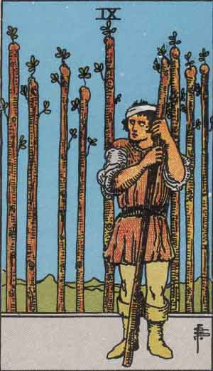 Nine of Wands Tarot card