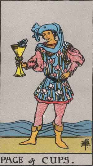 Page of Cups Tarot card