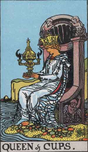 Queen of Cups Tarot card